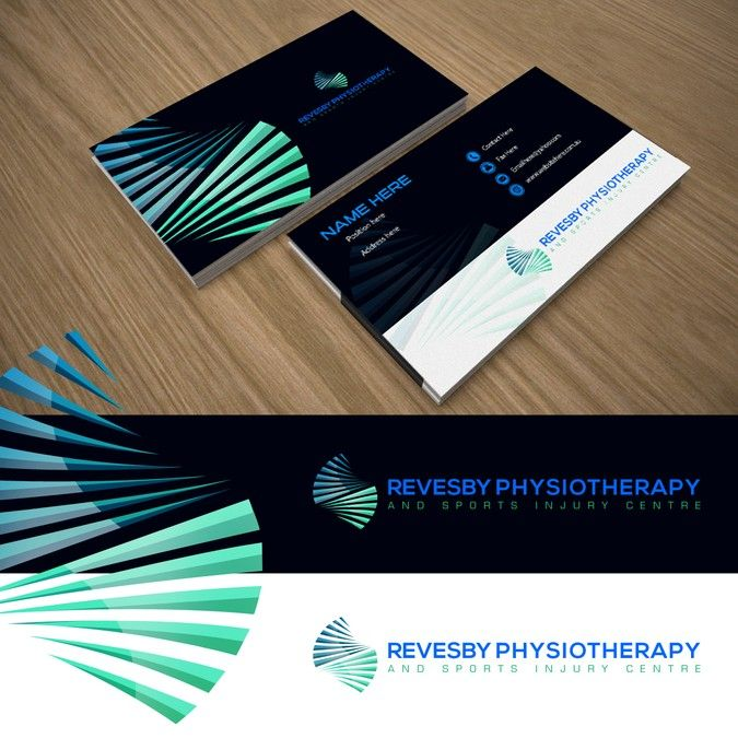 Create a modern professional logo and business card for a create a modern professional logo and business card for a physiotherapy reheart Image collections