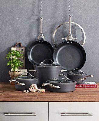 Calphalon Contemporary Nonstick 11 Pc Cookware Set Reviews Cookware Kitchen Macy S Cookware Set Calphalon Contemporary Calphalon Cookware Calphalon contemporary nonstick 11 piece cookware set