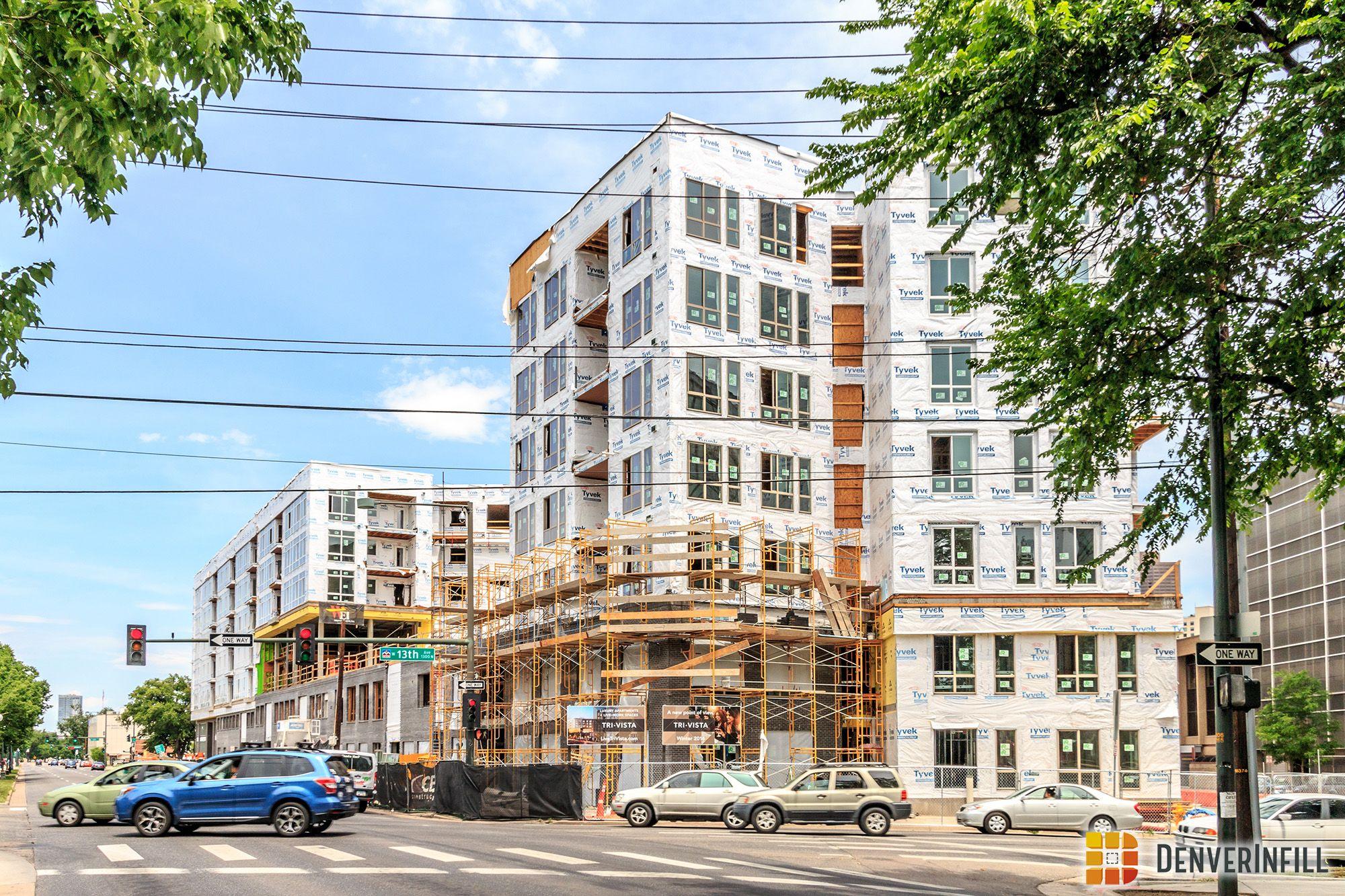 TriVista on Speer Update 3 Apartment projects, Street