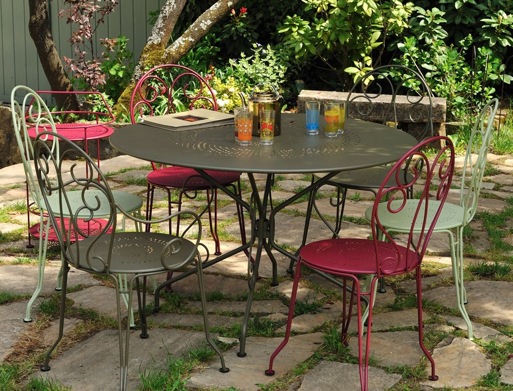 Table ronde 96 cm Montmartre, table de jardin en métal en 2019 ...