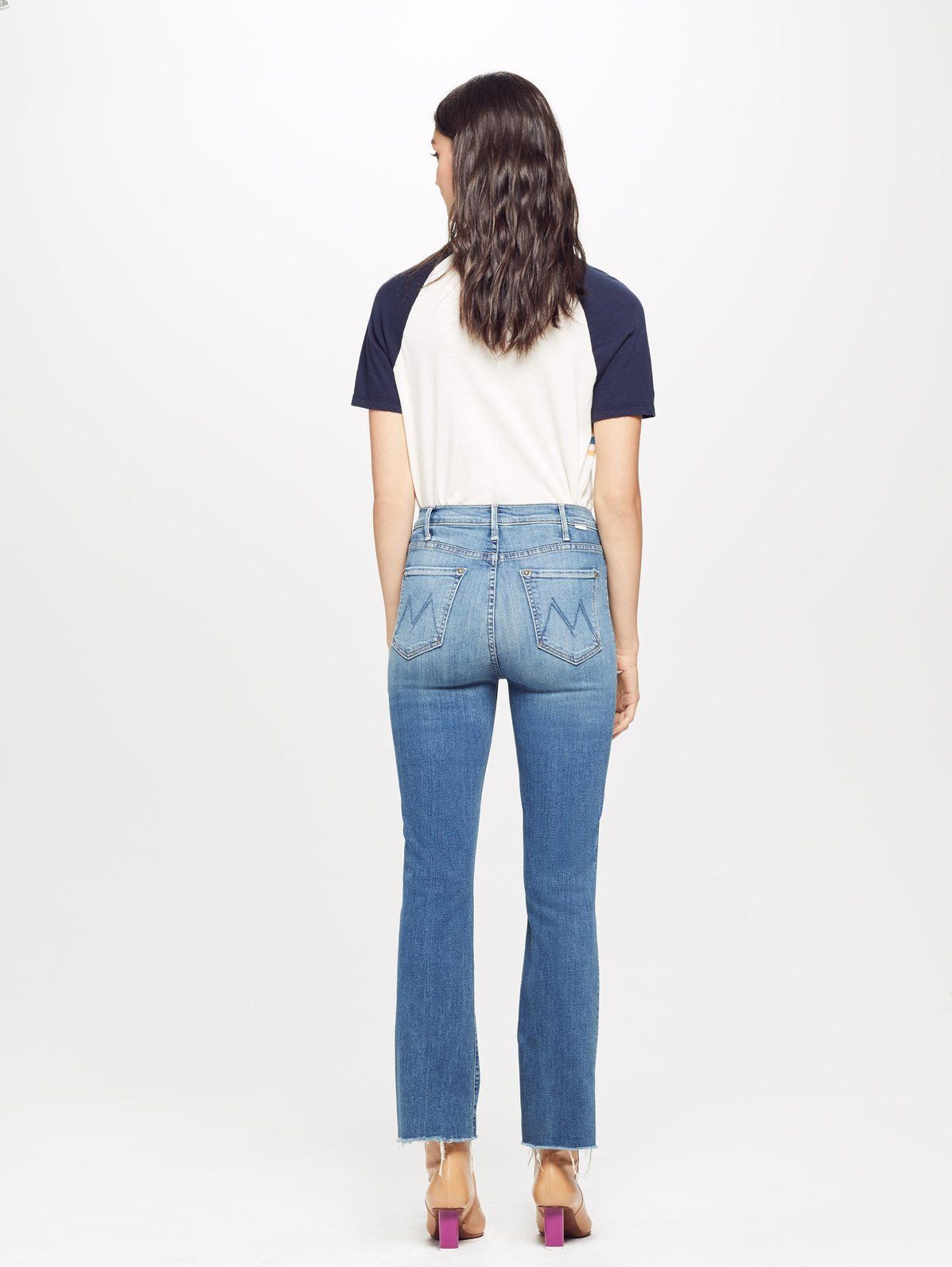 196e105b78d The Patch Pocket Hustler Ankle Fray - Love For Sail. Ahoy! In a denim wash  as blue as the ocean, MOTHER set sail in her favorite bootcut jean with  exposed ...