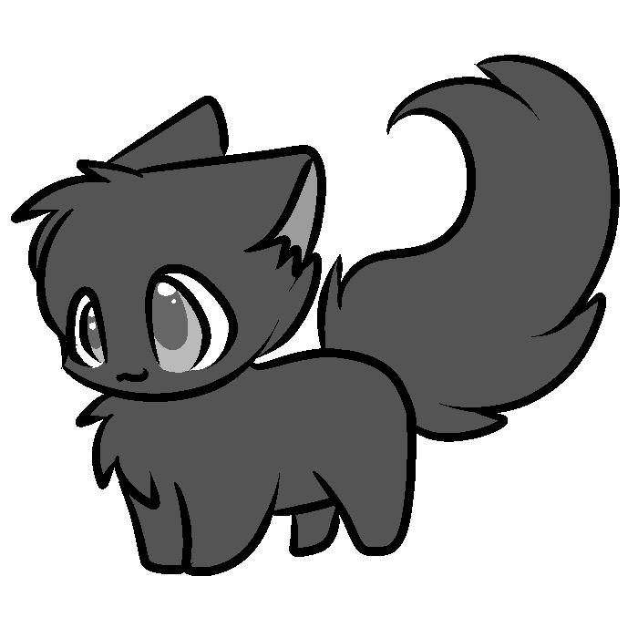free cat lineart by servene on deviantart bases in 2019