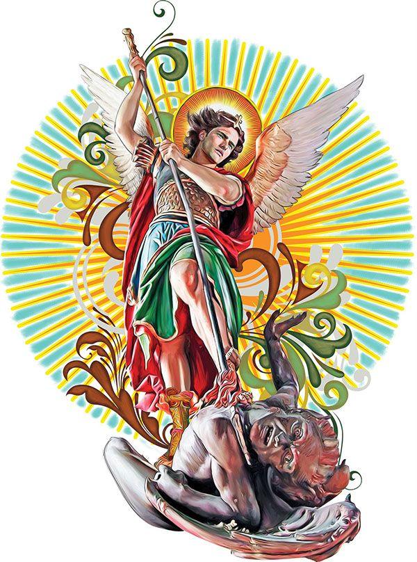 Saint Michael The Archangel Illustration On Behance