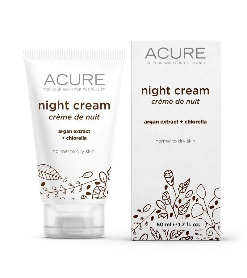 Acure Brightening Night Cream - 1.75 Oz
