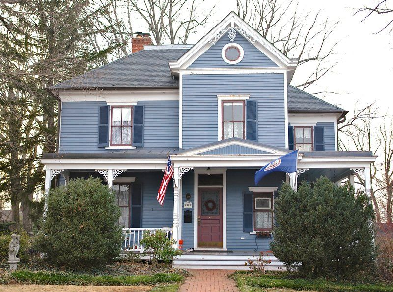 White House With Blue Shutters Blue House Using Too High A
