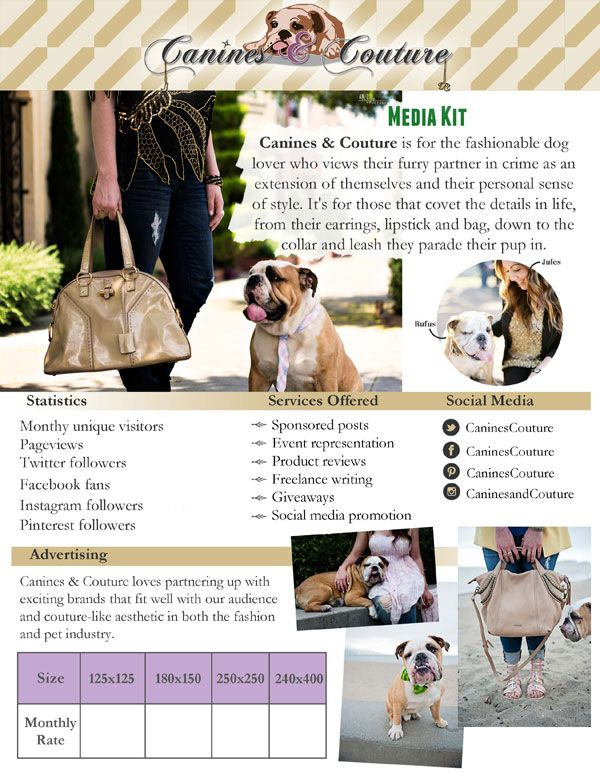 Media Kit from Canines & Coutoure