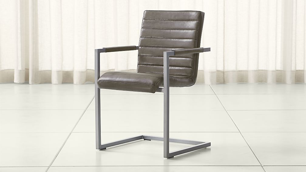 Hudson Channel Sched Grey Leather Dining Chair Reviews