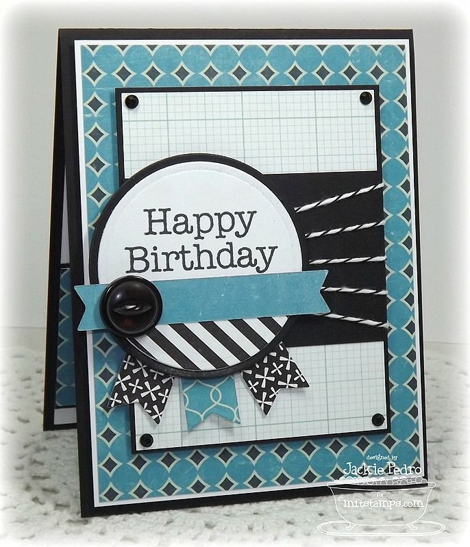 Great masculine Birthday card using the Stampin' Up! Banner Punch and Circle Framelits