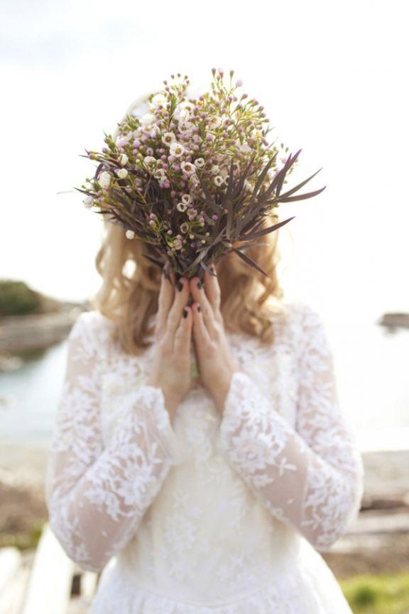 In Bloom Wax Flower Wedding Bridal Photography Wedding Trends