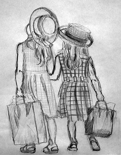 friends drawing - Google Search draw it Pinterest Sketches and