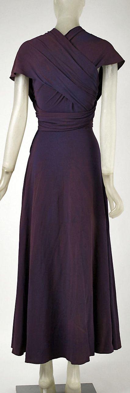 ~Vionnet Silk Evening Dress 1934: Met Museum~