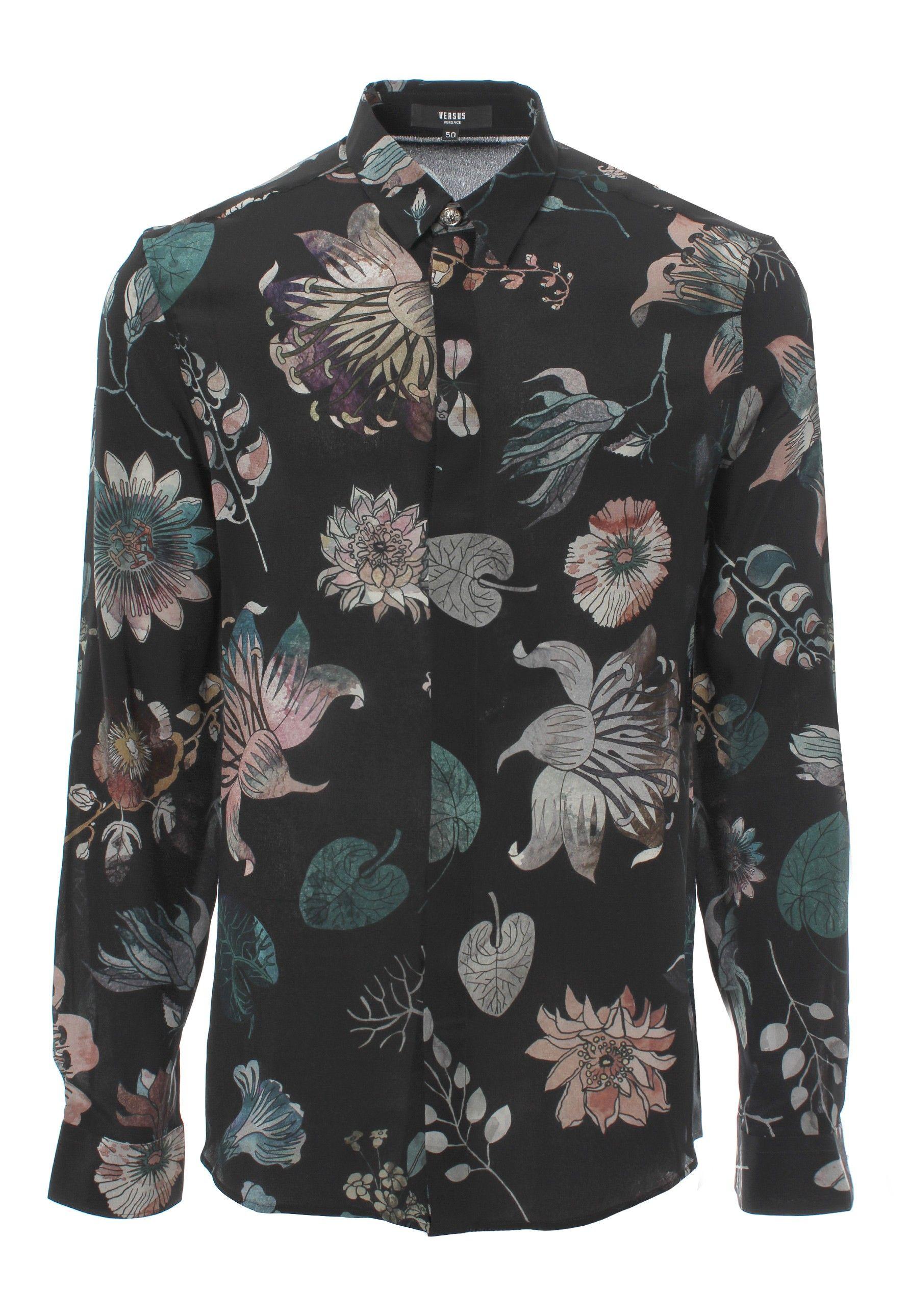 2edd607c Versus Versace Aquarello Print Silk Shirt   GarmentQuarter ...
