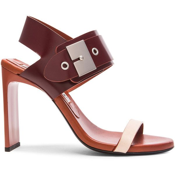 Acne Studios Asura Heels (1.835 DKK) ❤ liked on Polyvore featuring shoes, pumps, heels, synthetic shoes, high heel shoes, buckle shoes, heel pump and high heel pumps