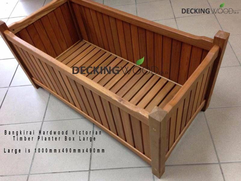 Bangkirai Hardwood Planter Box - Victorian Design LIMITED | Building ...