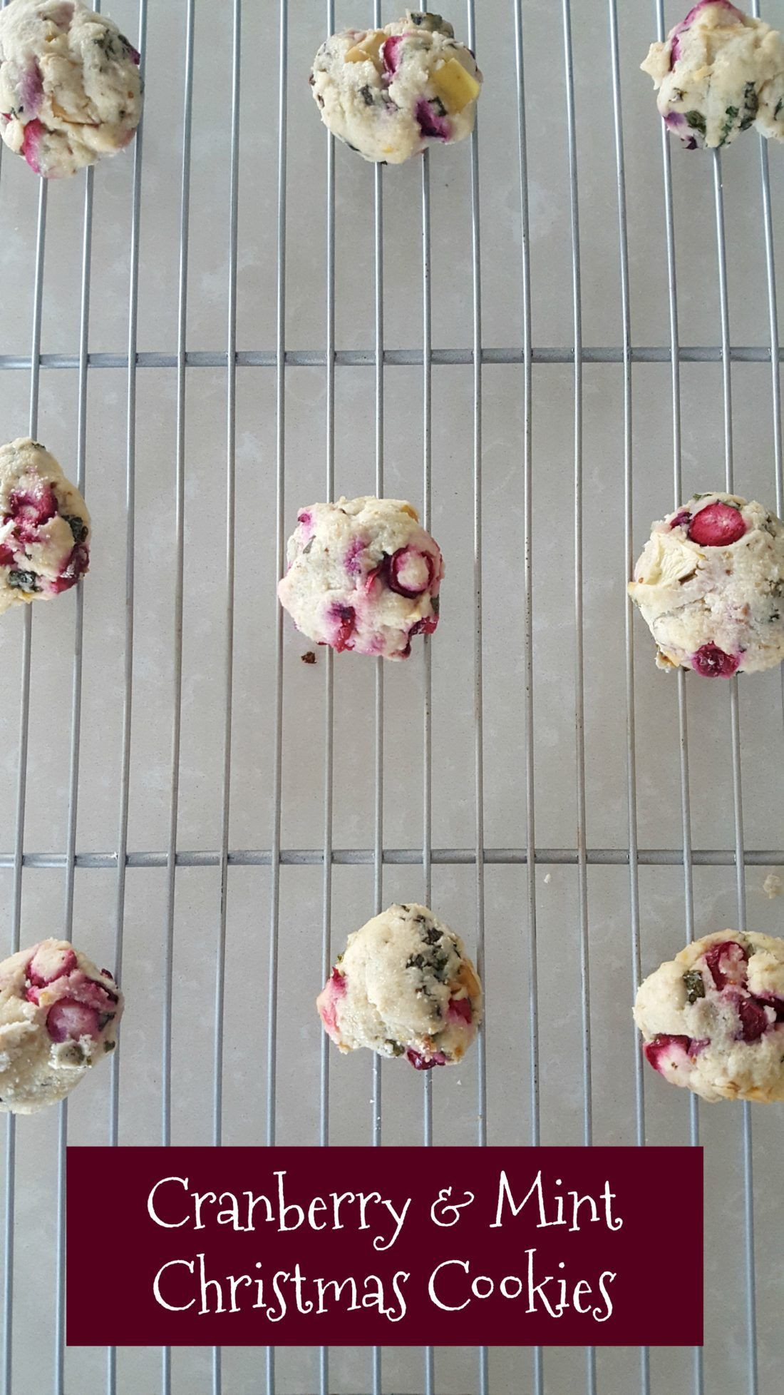 cranberry mint Christmas cookies Christmas cookies