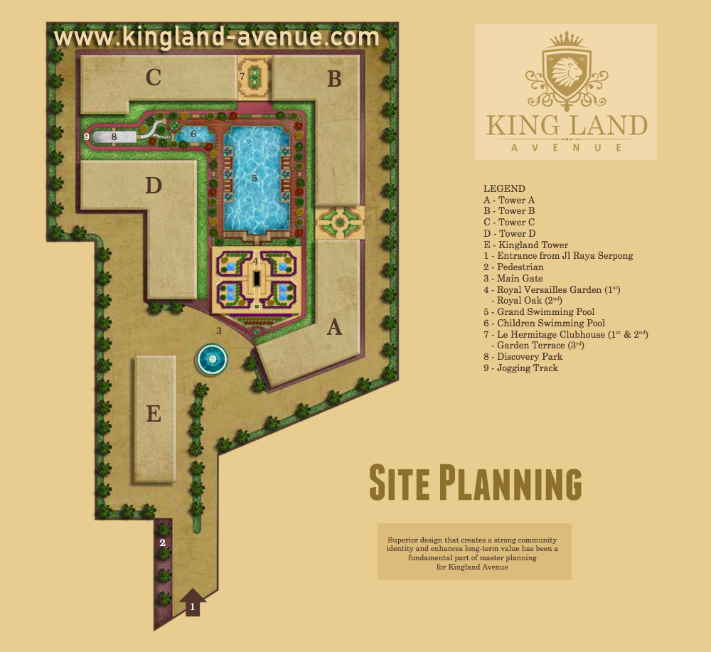 Site Planning Kingland Avenue Serpong Children Swimming Pool Site Plan Club House