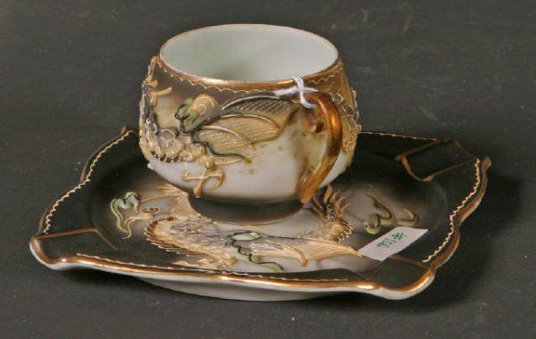 Demitasse Cup & Saucer with Geisha Girl on cup