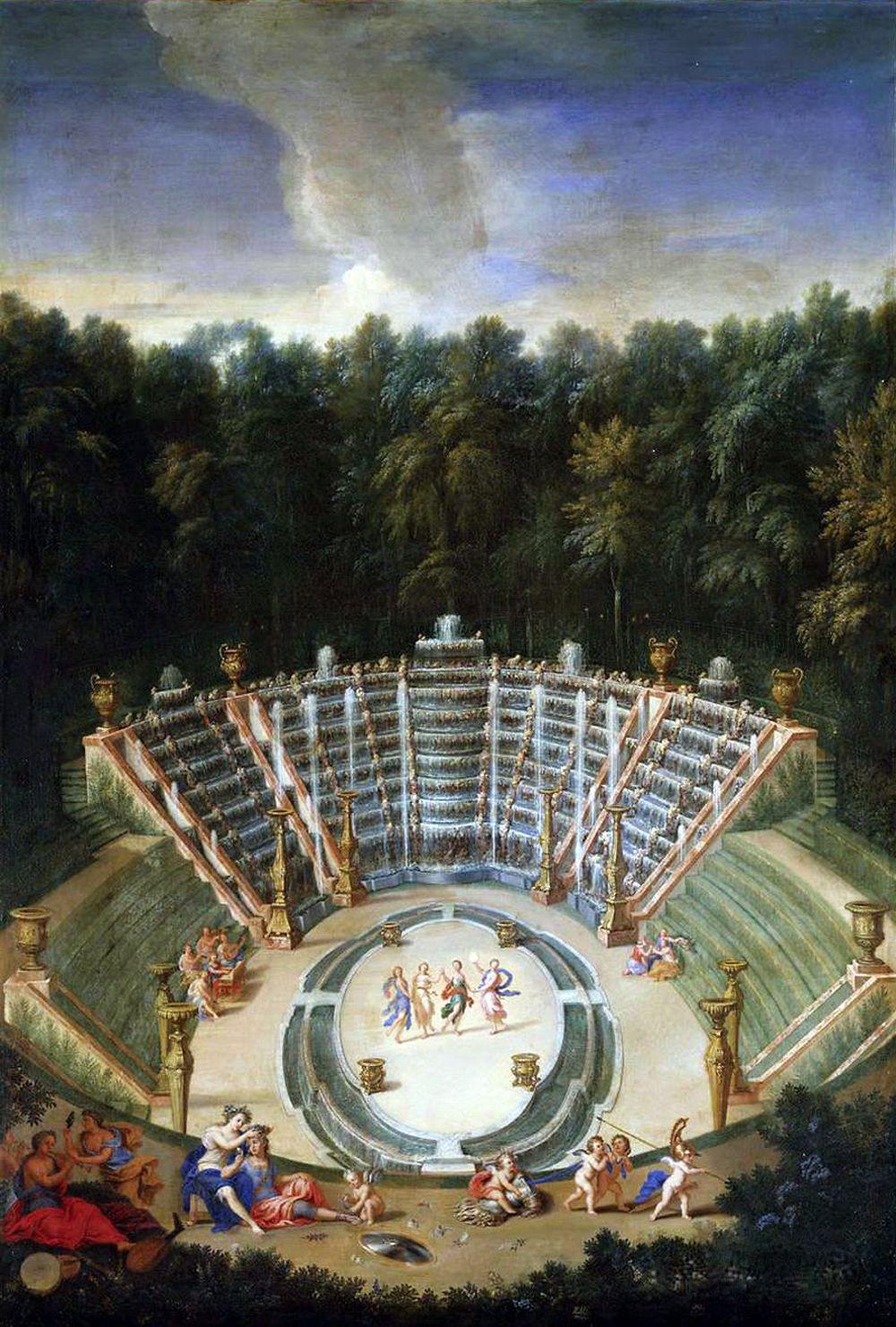 5 Vue de Salle de Bal ou Bosquet des Rocailles dans les jardins de Versailles de Cotelle Jean, le Jeune.jpg