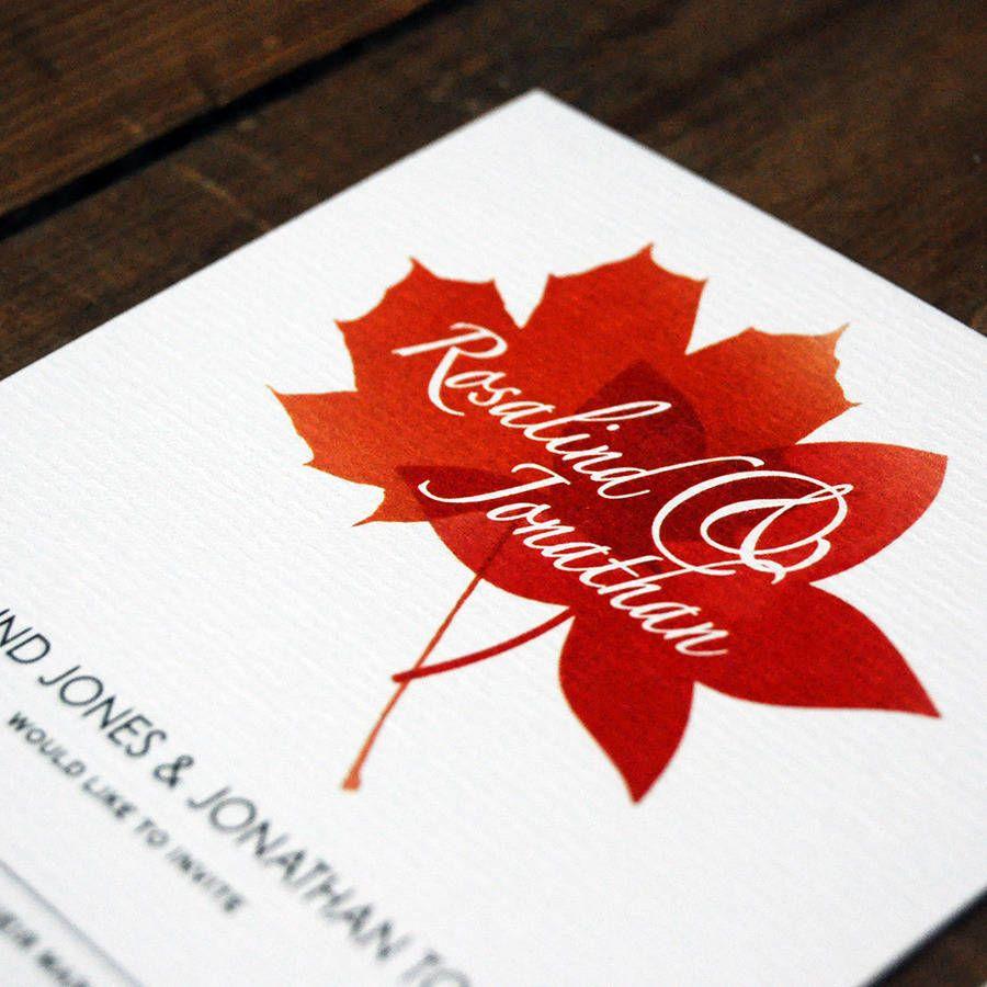 leaf wedding invitations - Google Search | Wedding invitation ideas ...