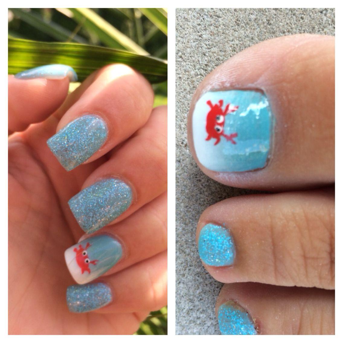 crab nail design art