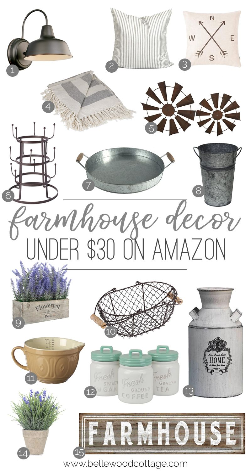 Farmhouse Decor From Amazon Under $30 images