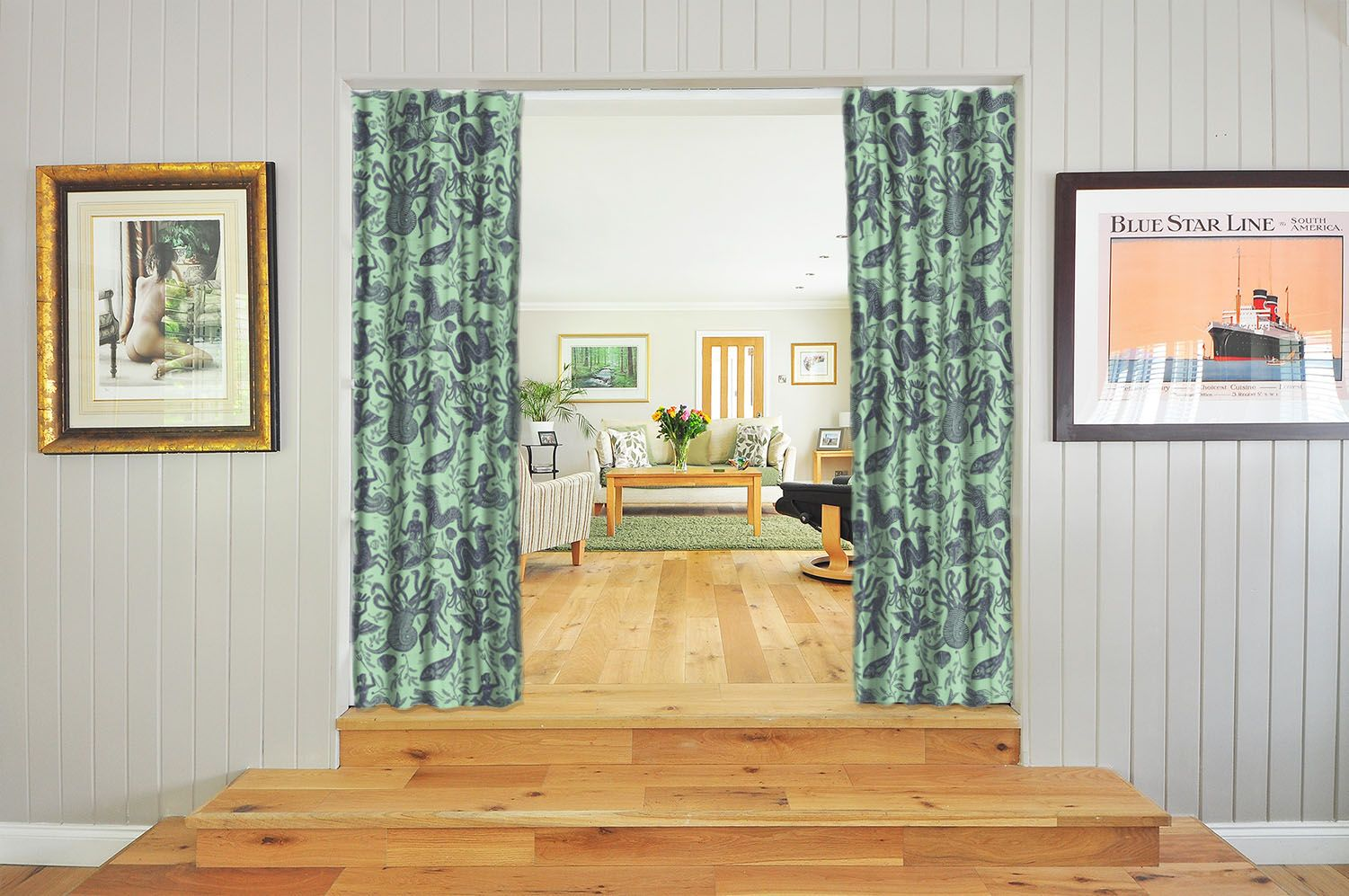 Kids Curtain Fabrics Curtain Fabric And Upholstery Fabric By Cocoon Home Green Curtain