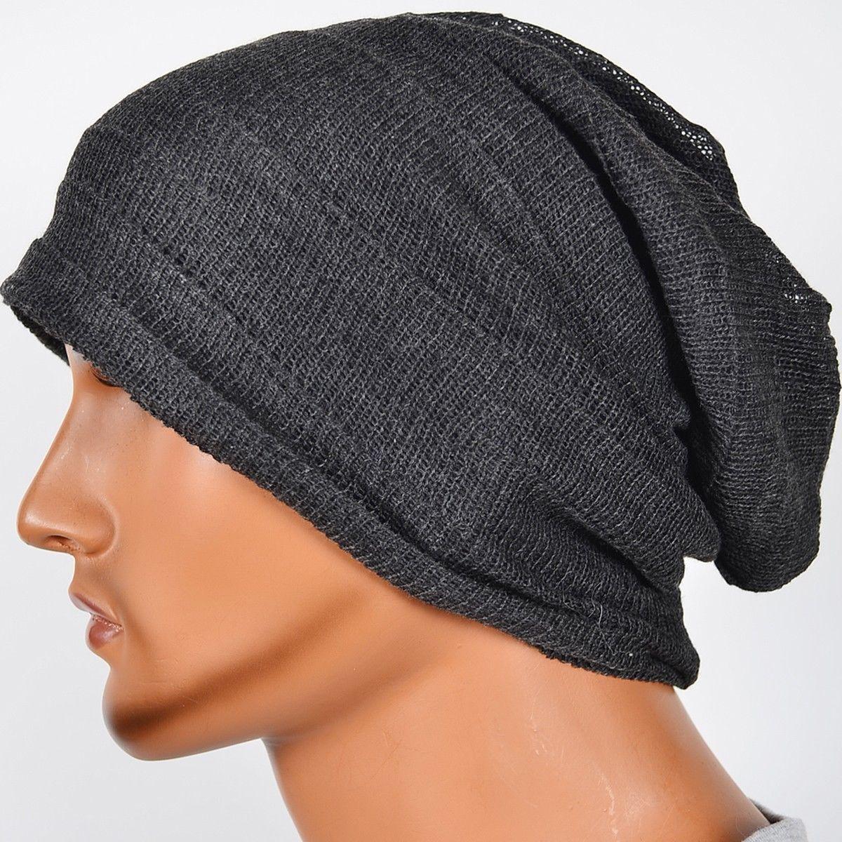 Sugar Skull Cap Men /& Women Oversized Baggy Plain Skull Ski Slouchy Hat