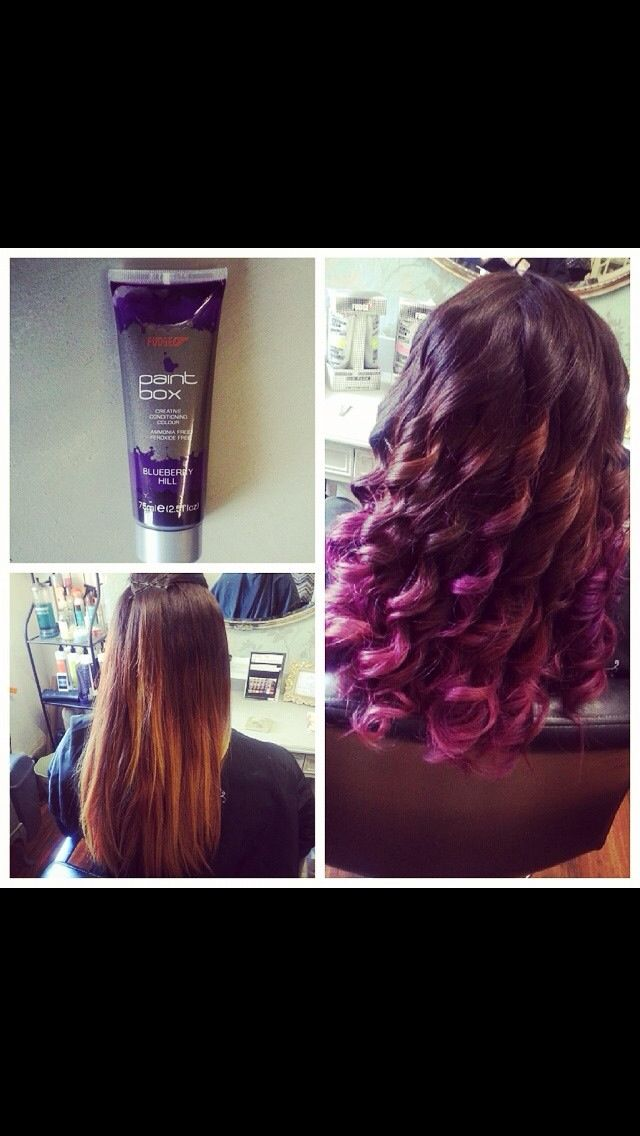 My Purple Dip Dye Awesome Addicted To Fudge Paintbox