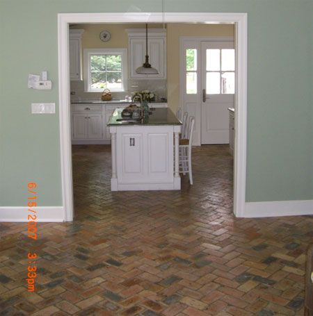 Old Chicago Brick Floor Tile This stunning brick veneer started