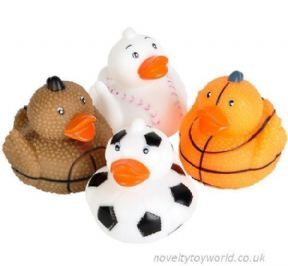 Wholesale Novelty Sports Ball Theme Rubber Ducks 5cm Rubber
