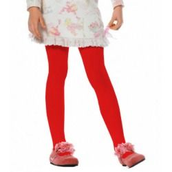 Girls Red Opaque Tights - Tights and Stockings
