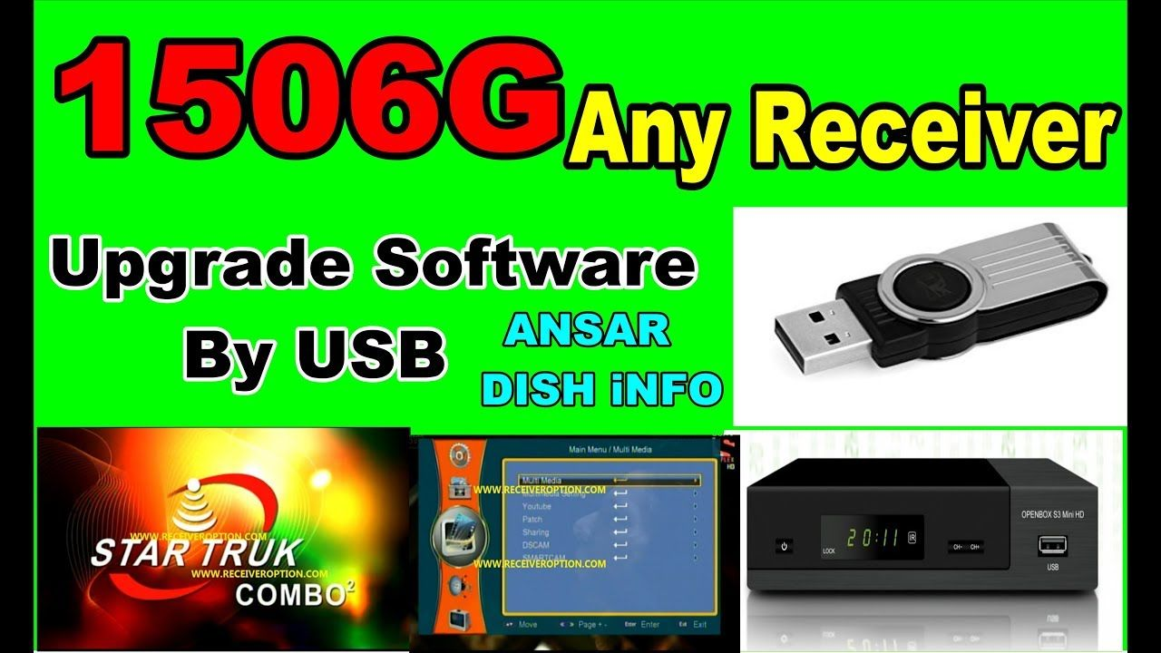 1506g Any Receiver upgrade Software by usb 2018 | star look in 2019