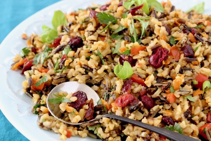 Thanksgiving Wild Rice Pilaf #easyricepilaf How to and Step-by-step instructions from Meal Planner Pro #easyricepilaf
