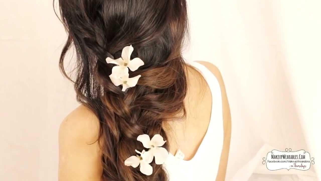 cute cascading curls braids hairstyles for medium long hair