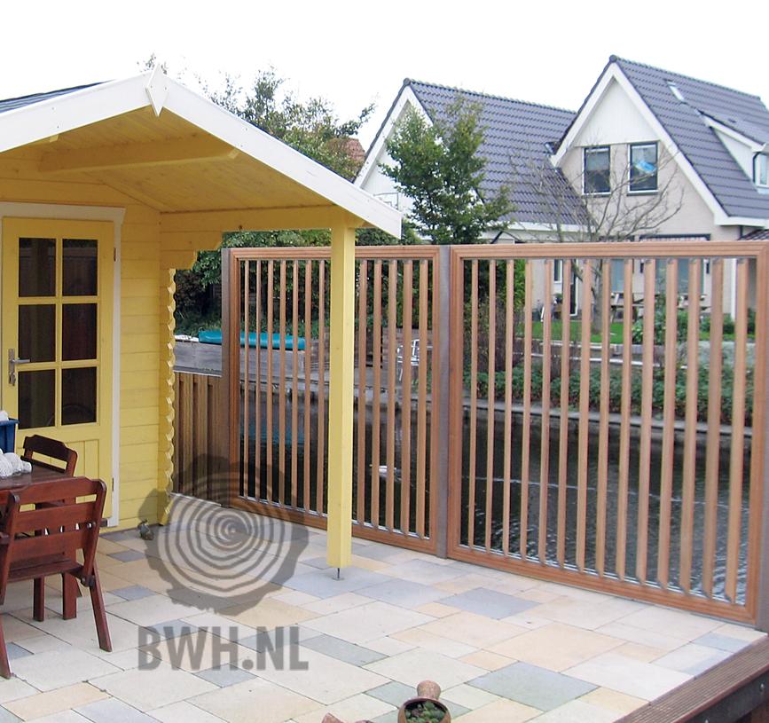 Draaibare lamellen scherm verstelbare shutter scherm flex fence garden pinterest schutting - Scherm huis ...