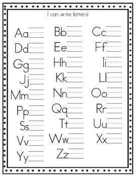 Reinforce correct letter and number formation with this