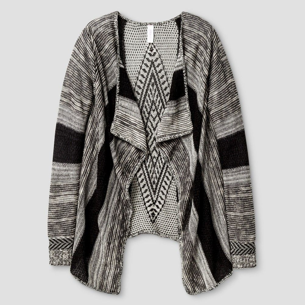Girls' Waterfall Cardigan Xhilaration - Black S, Girl's | Products ...