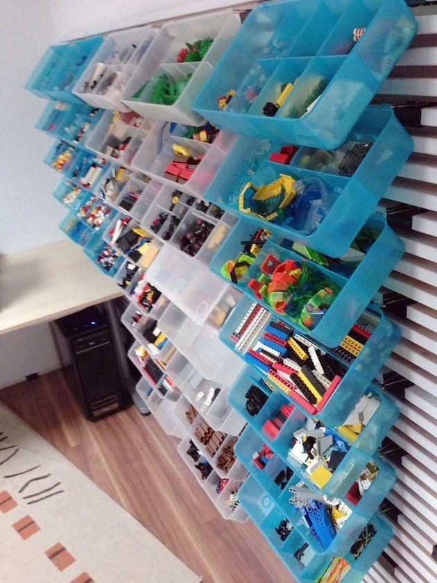 10 idées pour transformer la tête de lit IKEA MANDAL - Clem Blog Deco | Rangement lego, Mur de ...