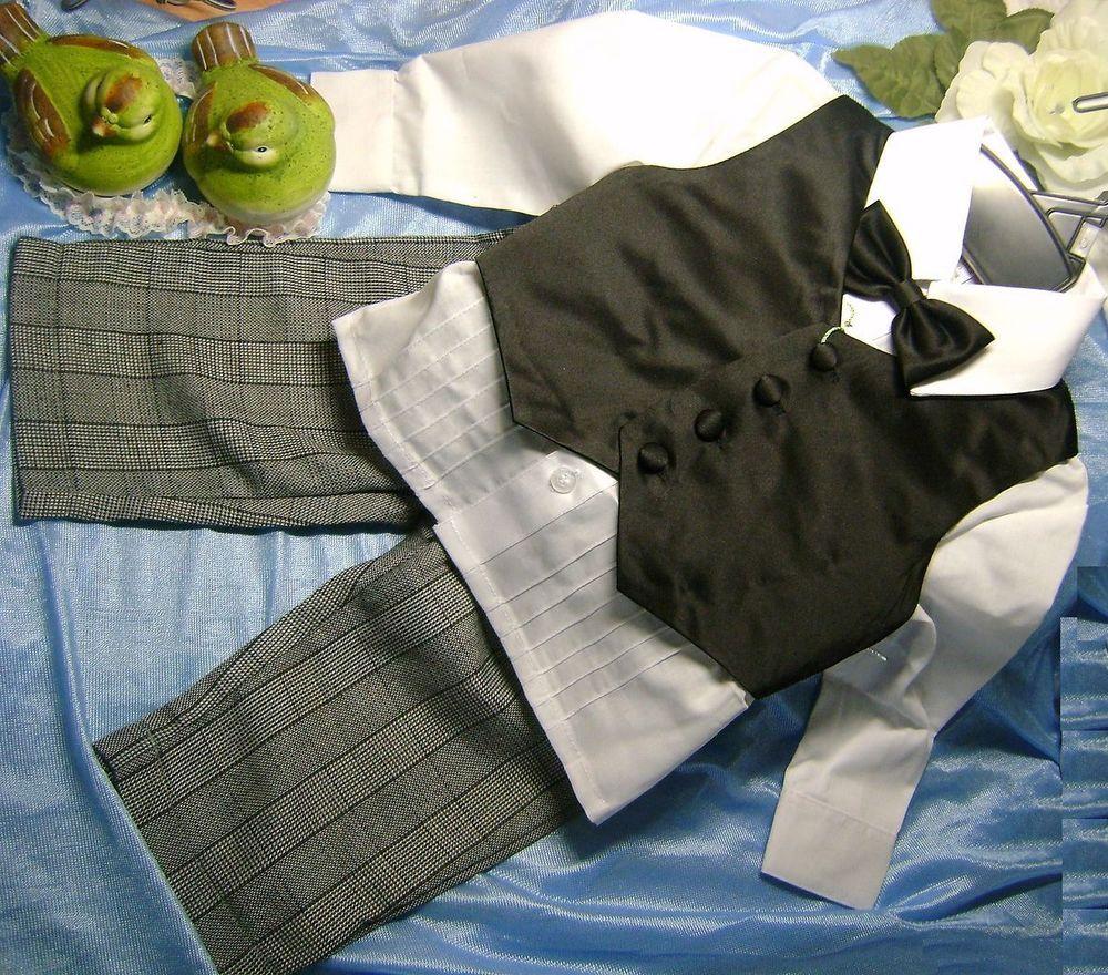Taufanzug Junge Baby Anzug Taufe Hochzeit Festliche Kleidung Babyhose Weste  Baby, Kleidung