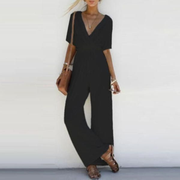 14e3e2dc8df6d Michelle Jumpsuit in 2019 | My Style | Jumpsuit with sleeves, Casual ...
