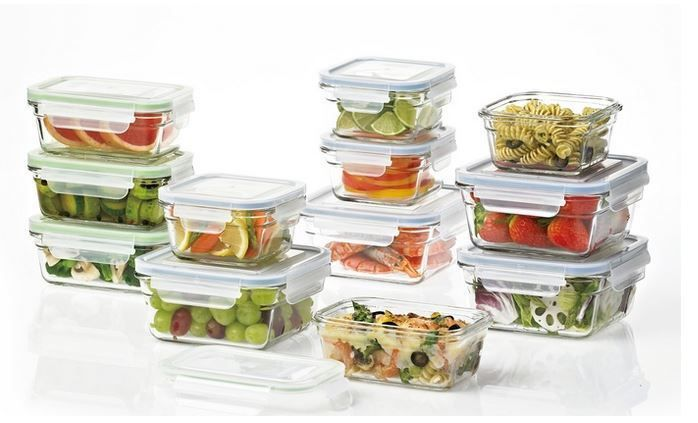 Glasslock Food Storage Container Sets Food Storage Containers 20655 Glasslock 24Piece Oven Safe Food