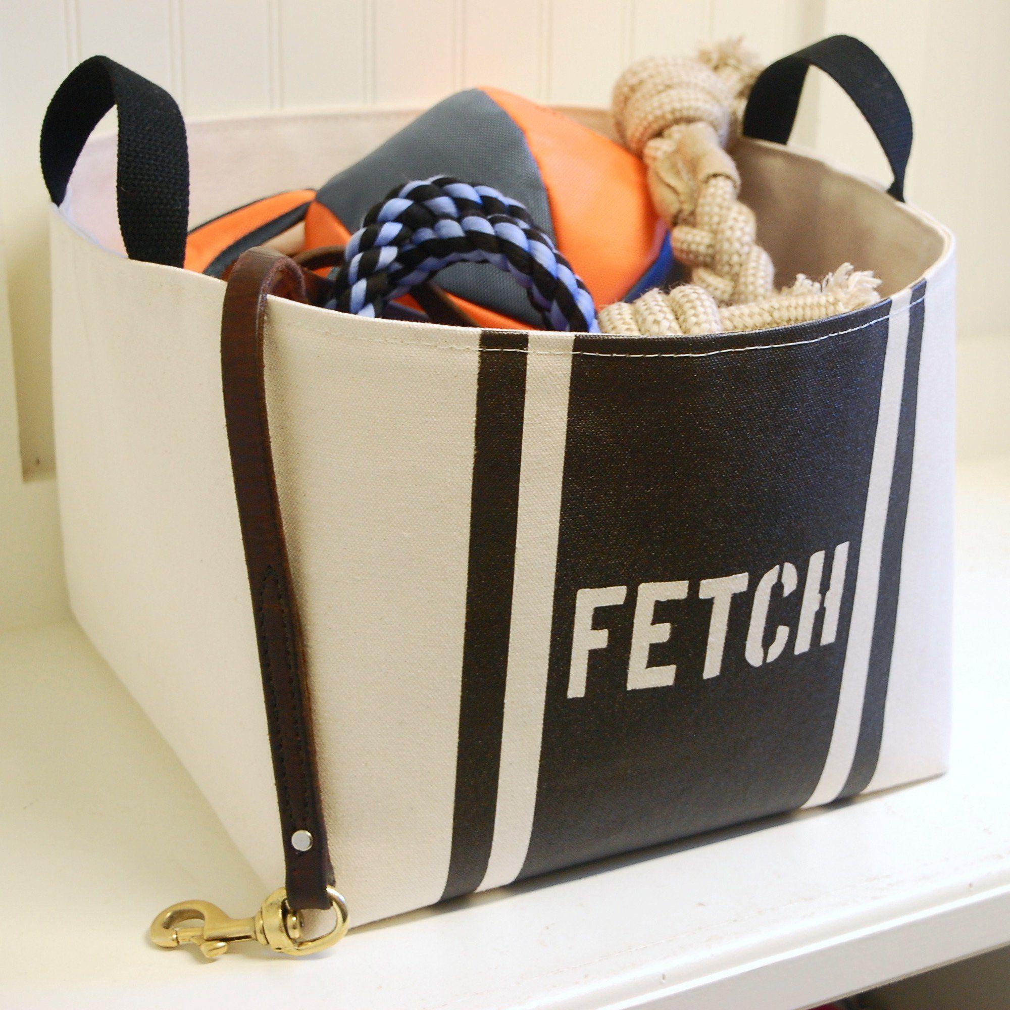 Fetch Dog Toy Basket Storage Bins Stuffed Animal Storage Dog