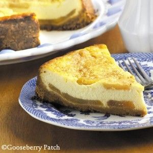 Harvest Apple Cheesecake Recipe: Cheesecake is a favorite dessert at many family gatherings, and this apple cheesecake is a delicious twist to an old favorite. Click for recipe. #repinablerecipes