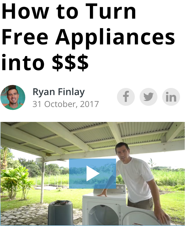 How to Turn Free Appliances into a 6Figure Business (With