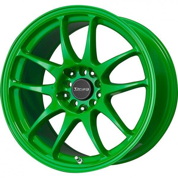 Rin drag wheel dr31 verde ne n 17x9 5 100 114 3 rines - Colores que combinan ...