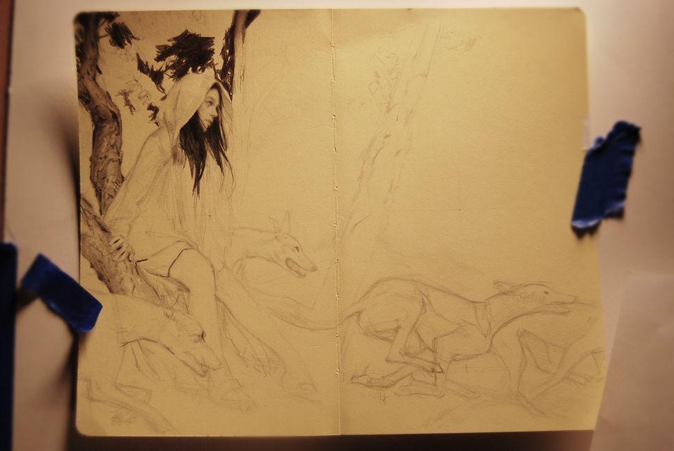 The Art of Karla Ortiz: Drawing process.