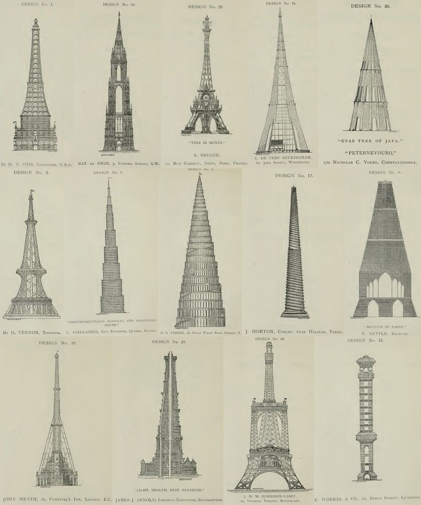 The proposal for watkins tower jealous of the frances eiffel explore monumental architecture and more malvernweather Image collections