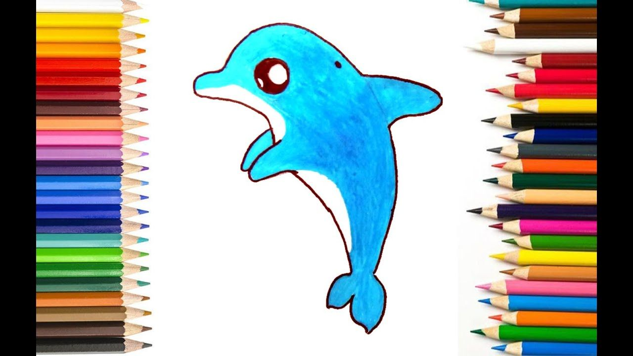 How To Draw A Dolphin Step By Step Easy Dolphin Drawing Drawing Pictures For Kids Dolphins For Kids