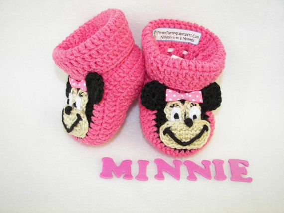 Crochet Pattern Baby Booties Minnie Mouse Instant Download | crochet ...