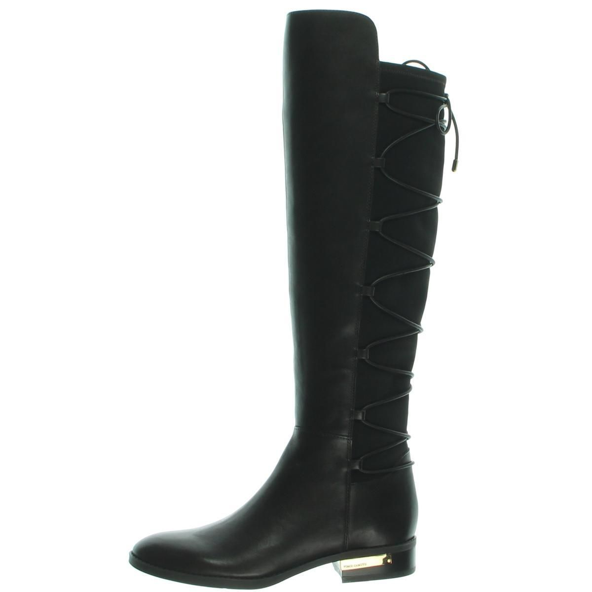 e30a5332de3 Vince Camuto Womens Parle Leather Knee-High Riding Boots